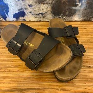 Black Birkenstock Leather Sandal
